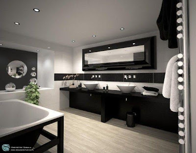 modernos de color blanco y negro | Ideas para decorar, diseñar y