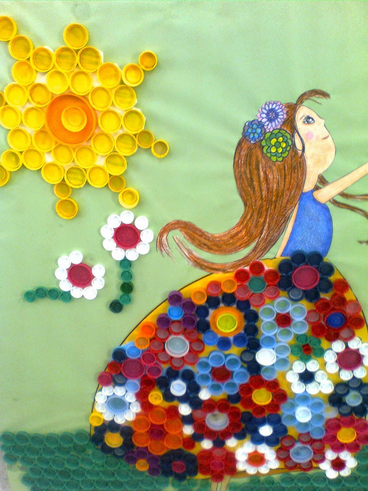 Se o chari mural de tapones - Murales con fotos ...