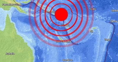 8 Magnitude earthquake struck Santa Cruz Islands
