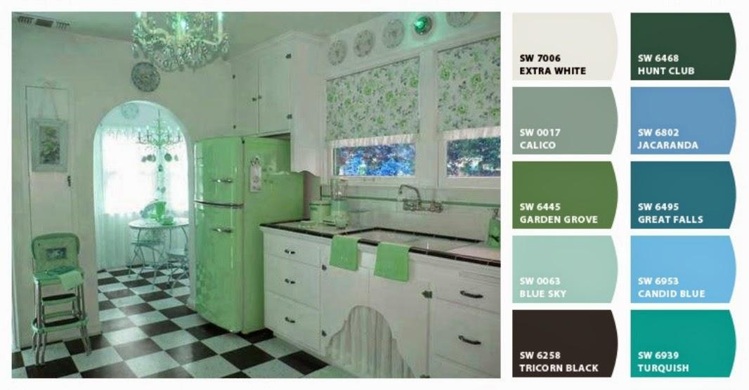 benny b's painting: retro kitchen color palette