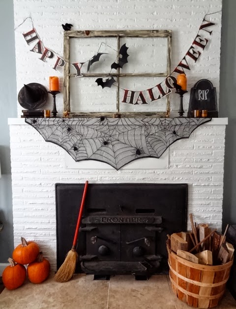 Spooky Spaces A Halloween Mantle Revamp Homegoods