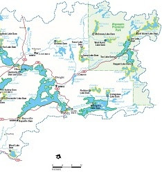 Muskoka Watershed map.