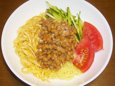 納豆冷やし中華(納豆冷麺)