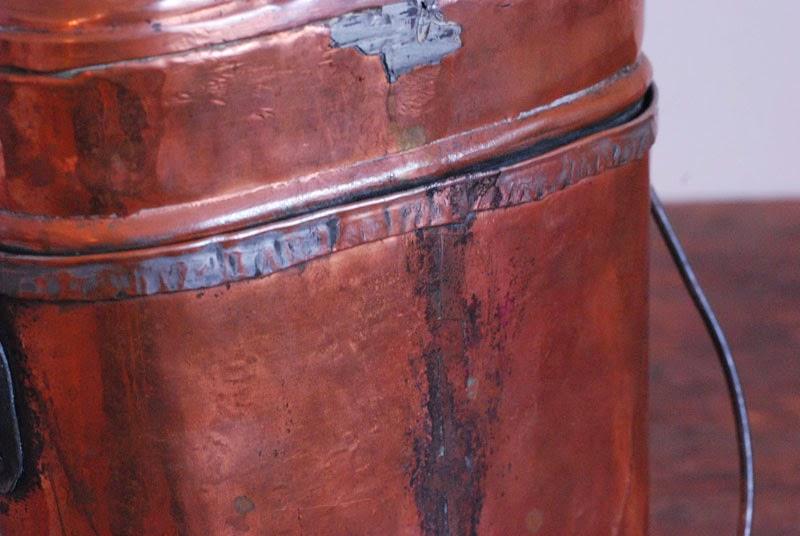スウェーデン軍 銅製飯盒の裏側