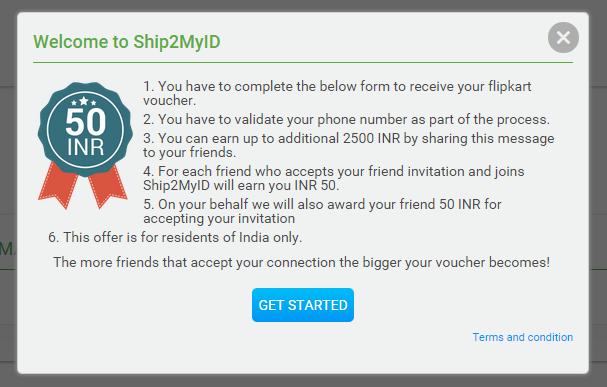 ship2myid flipkart voucher offer
