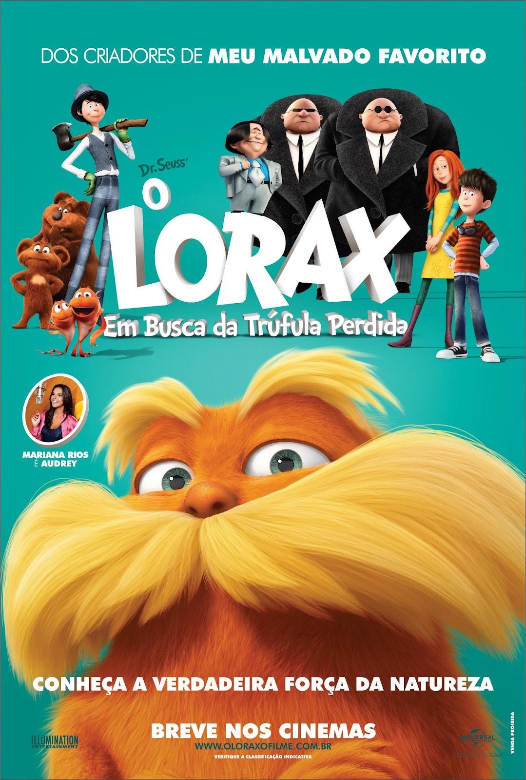 Pôster/capa/cartaz nacional de O LORAX: EM BÚSCA DA TRUFULA PERDIDA (The Lorax)