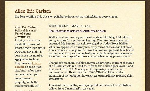 Allan Eric Carlson felon