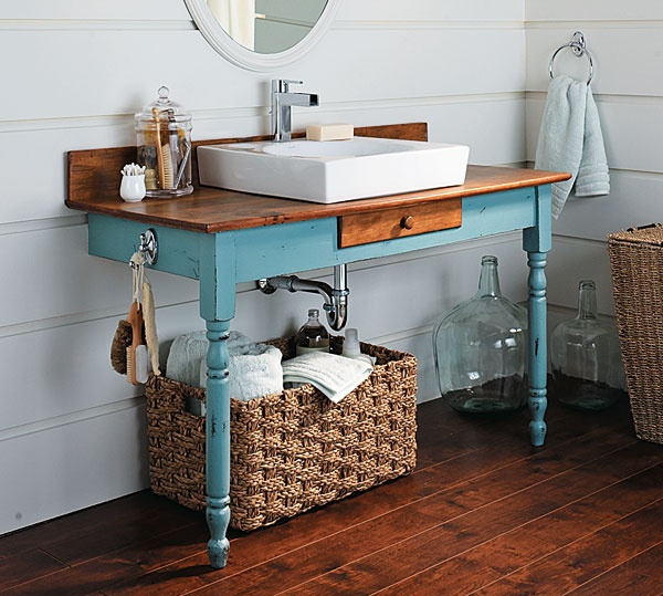Fantastic  White  DIY Wood Vanity  Feature By The Space Between  DIY Projects