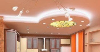 10 kitchen ceiling designs ideas and materials for Kitchen lighting ideas b q