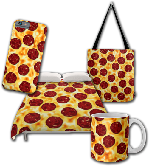 Cute Pepperoni Pizza Illustration Collection Set for Pizza Lovers