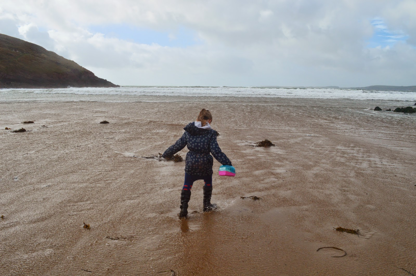 Caitlyn on Manorbier Beach