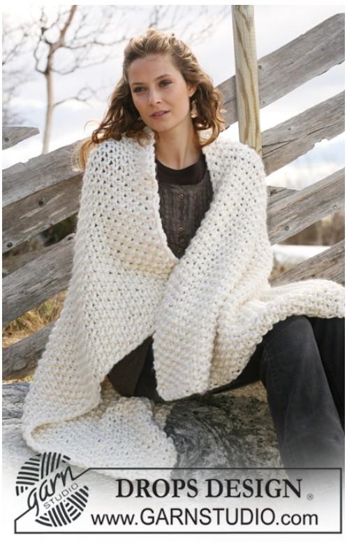 plaid a tricoter modele gratuit. Black Bedroom Furniture Sets. Home Design Ideas