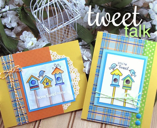 Tweet Talk  stamp set by Newton's Nook Designs - bird cards