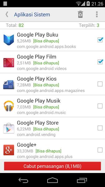Cara Mudah Menghapus Aplikasi System Android
