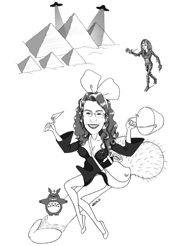 Top akire's portfolio: Papiro di laurea 03 Caricature for a graduate 03 GI09
