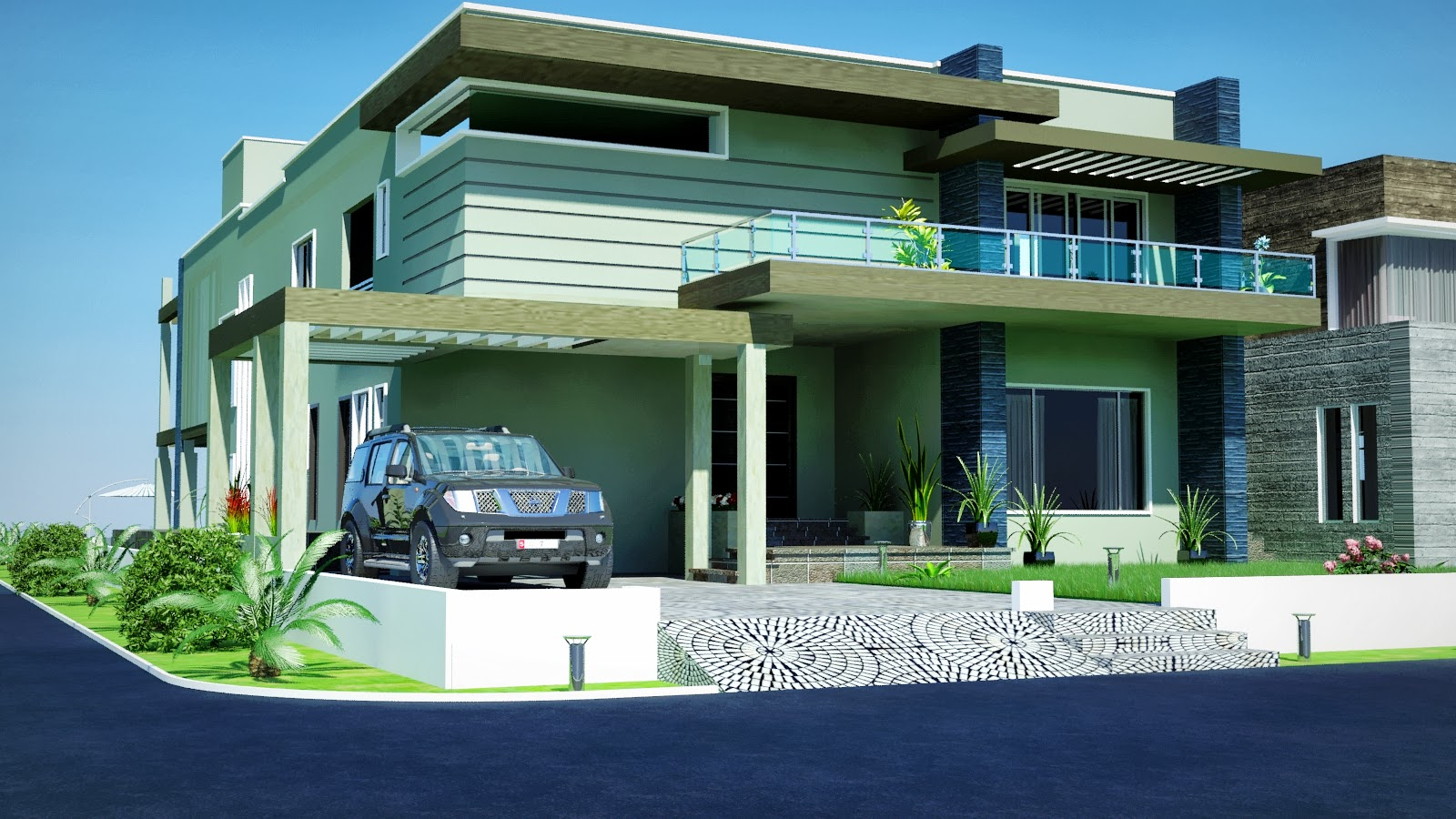 KANAL DHA Karachi MODERN CONTEMPORARY House Design with Swimming ...