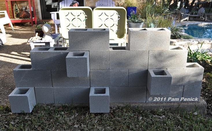 الشكل النهائي بعد بناء الحائط
