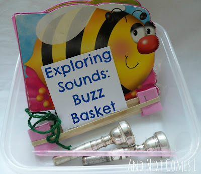 Exploring sounds: a bee themed buzz basket from And Next Comes L