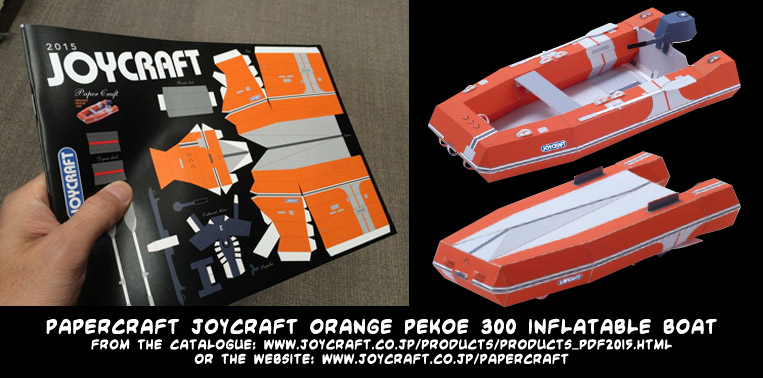 JOYCRAFT catalogue 2015 papercraft inflatable dinghy  (also available from the website)