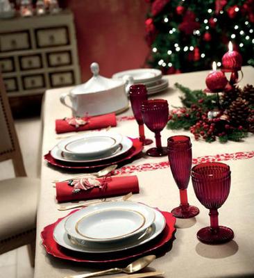 decoración mesas de Navidad
