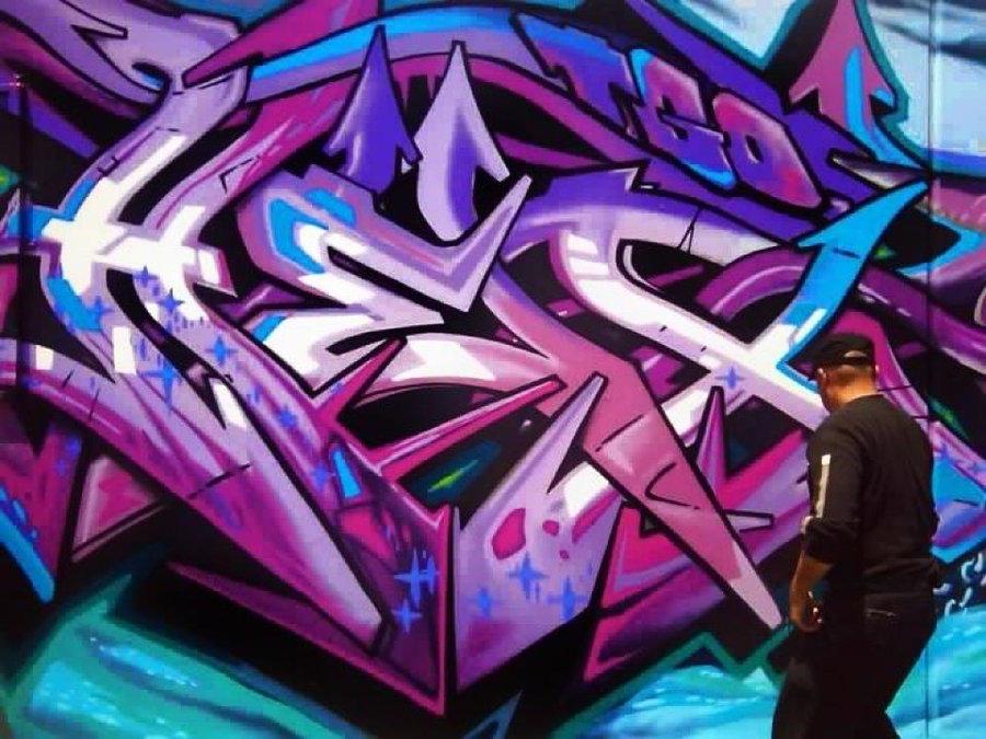 Go Back > Gallery For > Purple Graffiti Wallpaper