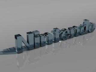 Nintendo, 3D staklena slova download besplatne pozadine slike za mobitele