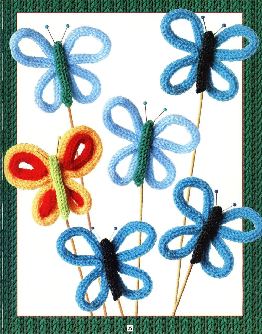 borboletas em crochet