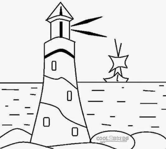 free light house coloring pages - photo#24