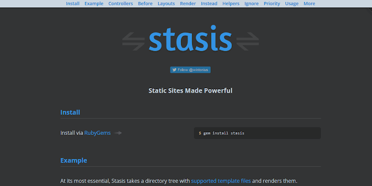 Stasis static publishing service
