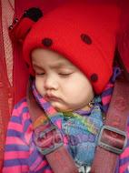 Sara with her Ladybug Hat