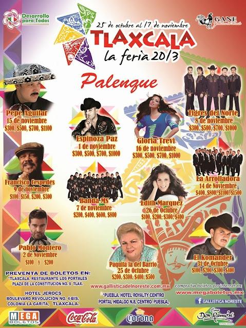 artistas palenque Feria Tlaxcala 2013