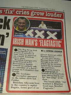 'Wrong Way' in the Irish Daily Star