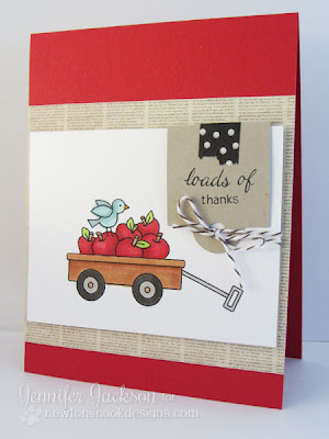 Apples in Wagon Card by Newtons Nook Designs