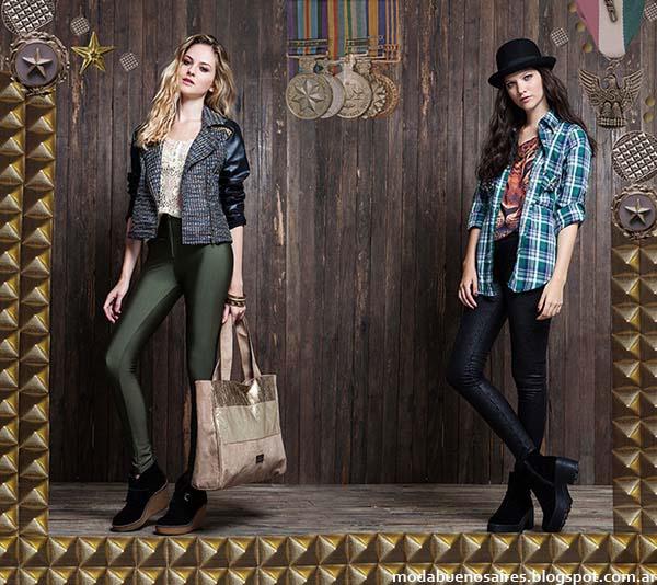 Camisas a cuadros de moda invierno 2014 Rimmel