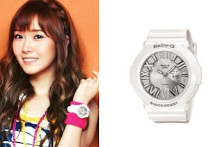 SNSD Jessica Casio Baby G Watch Collection