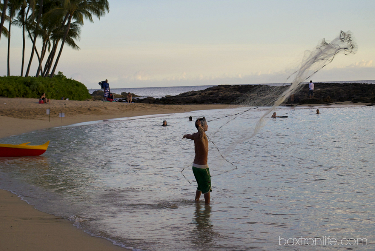 casting fishing net paradise cove luau