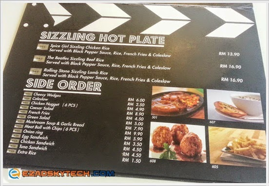 Menu SIZZLING HOT PLATE & SIDE ORDER Pak Uda Kitchen & Grill