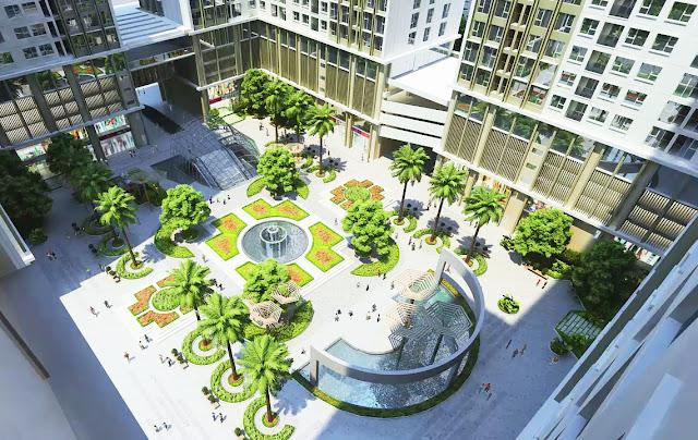 Khuôn viên thiết kế hiện đại của Eco Green City