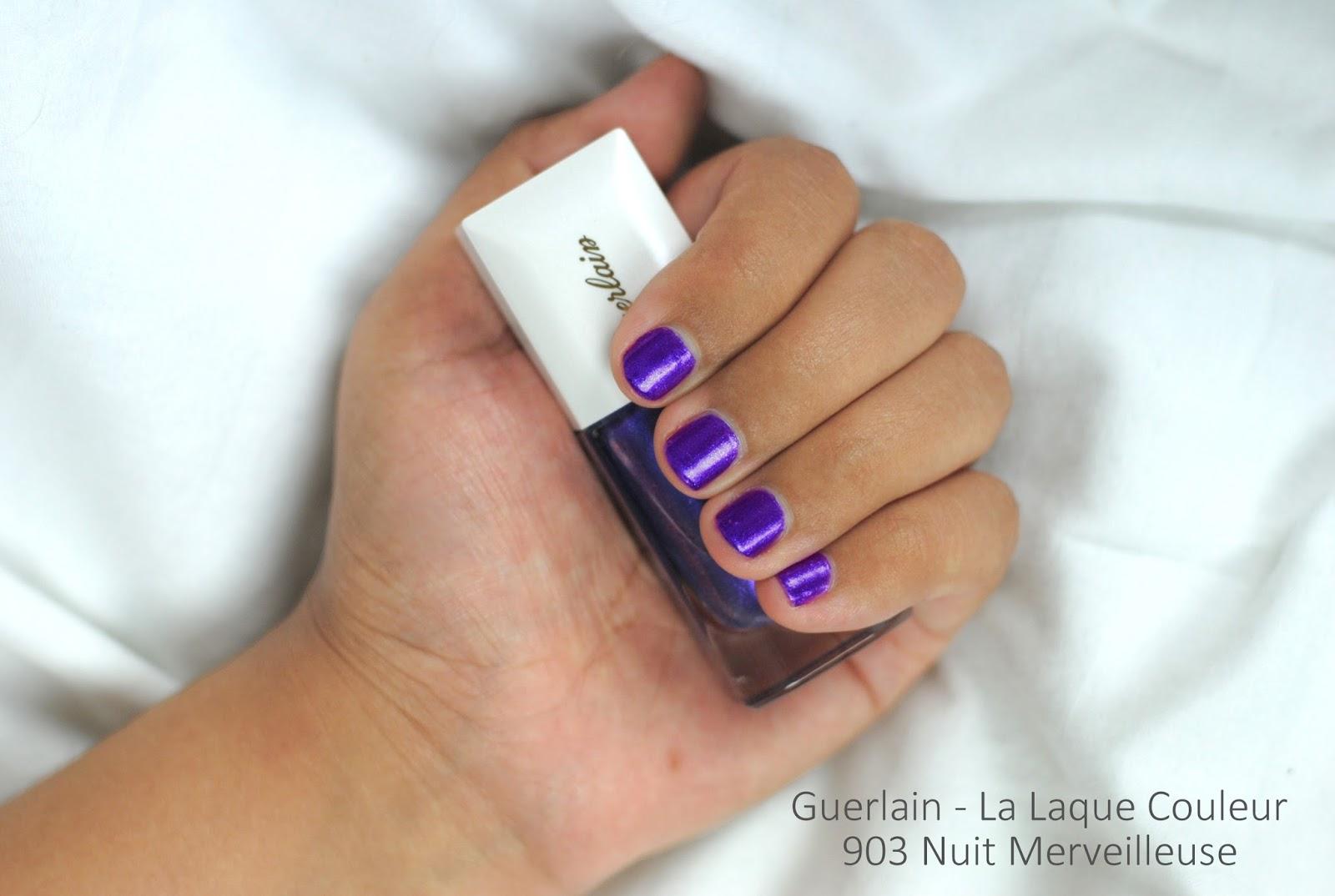 guerlain neiges merveilles review nail polish 903 Nuit Merveilleuse swatches swatch