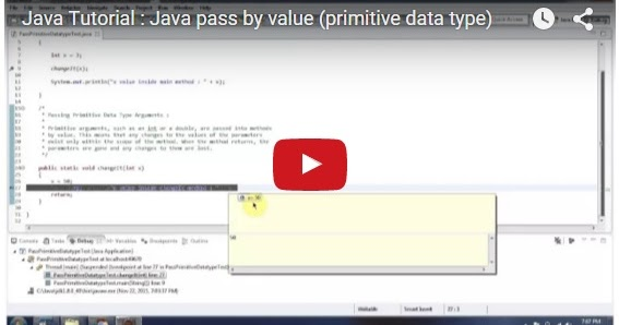 Java ee java tutorial java pass by value primitive for Pool design pattern java