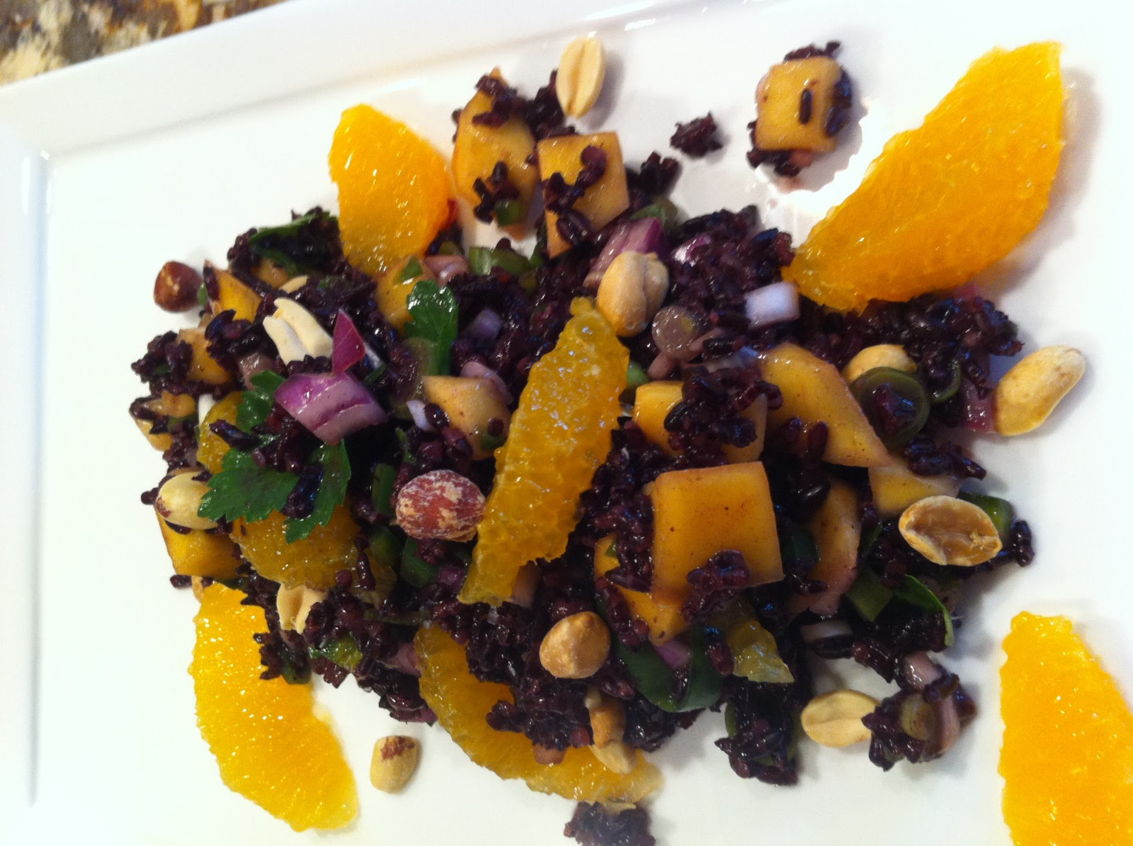 A Reluctant Foodie: Black Rice Salad with Mango and Peanuts