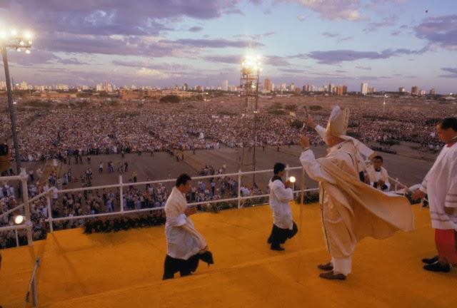 Resultado de imagen para papa juan pablo ii venezuela 1985