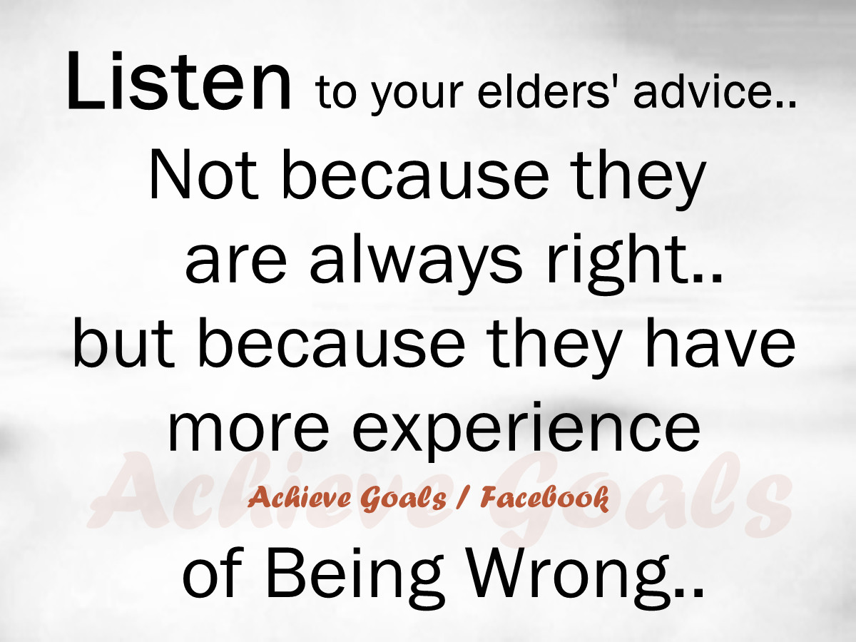 elders advice In a byu devotional, given on may 14 1996, elder f enzio busche of the quorum of the seventy of the church of jesus christ of latter-day saints (wwwmormon.