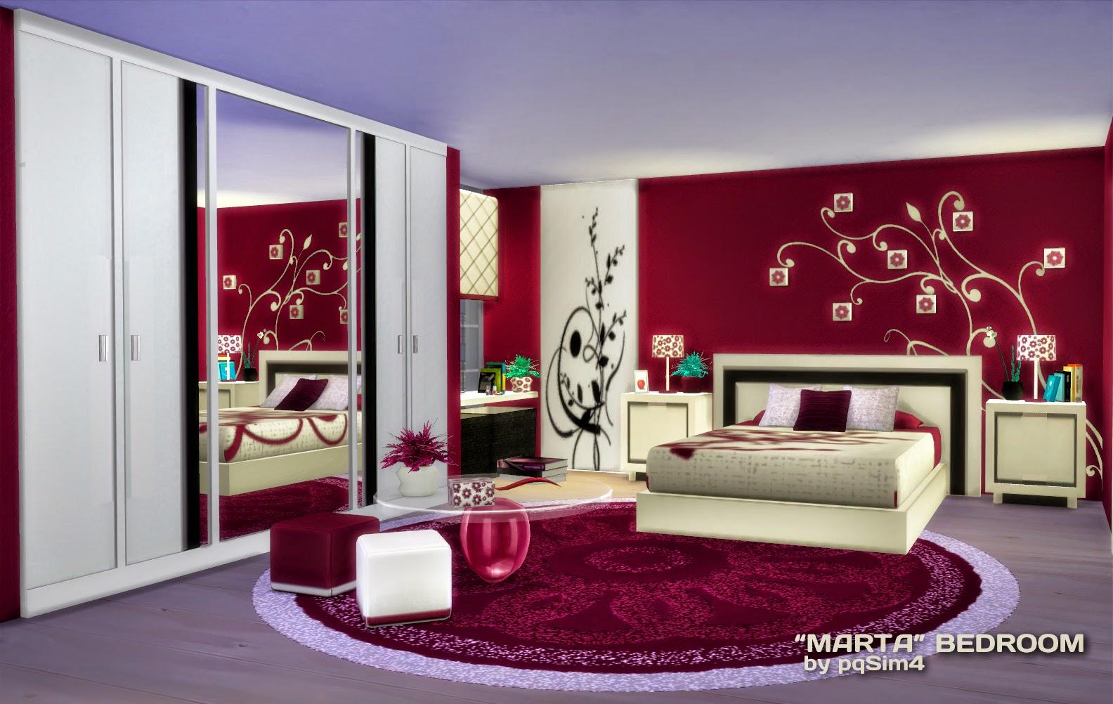 Sims 4 dormitorio marta for Dormitorio sims 4
