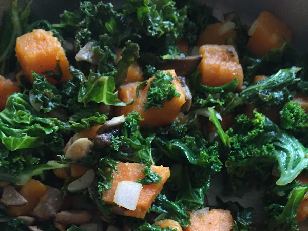 Hot Sweet Potato and Kale Salad