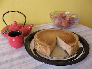 dietní tvarohový koláč s karamelem