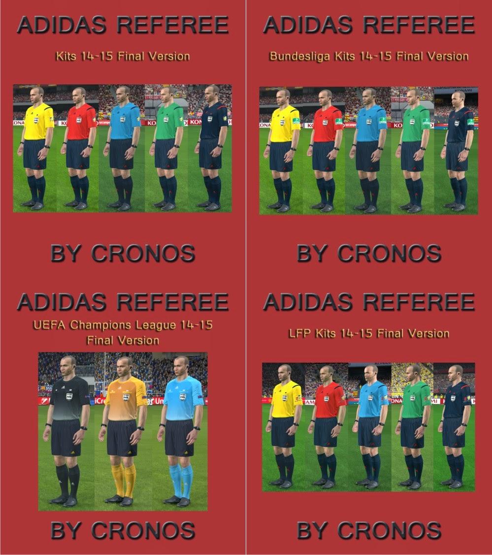 PES 2014 Adidas Referee Kits Pack 14-15 Final Version by CRONOS