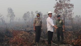 Ini Aksi Mengejutkan Jokowi: Menantang Asap hingga Panjat Menara