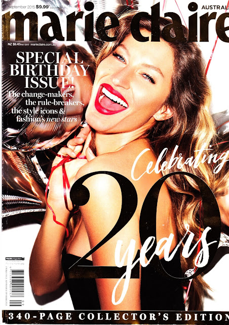 Actress, Supermodel @ Gisele Bundchen - Marie Claire Australia, September 2015