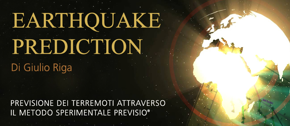 EARTHQUAKE PREDICTION   PREVISIONE DEI TERREMOTI